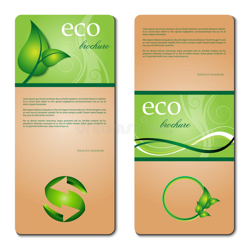 Download Eco promotion brochure stock vector. Image of eps10, circle - 20575504