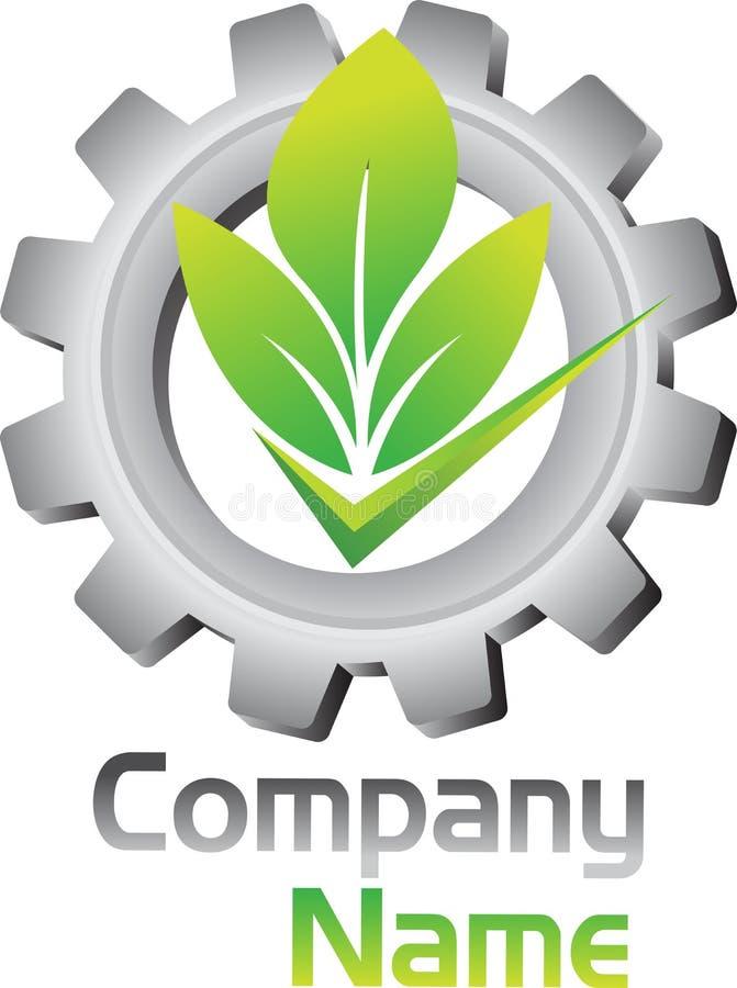 Eco przekładni logo royalty ilustracja