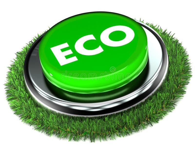 Eco Push Button royalty free illustration