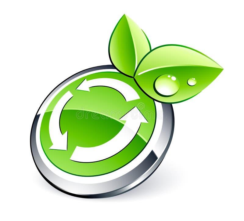 Eco réutilisant le bouton illustration libre de droits
