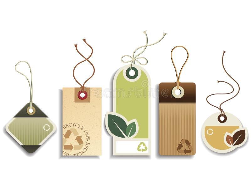 Eco recicl Tag ilustração royalty free