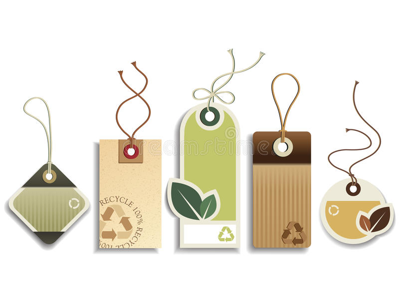 Eco recicla etiquetas libre illustration