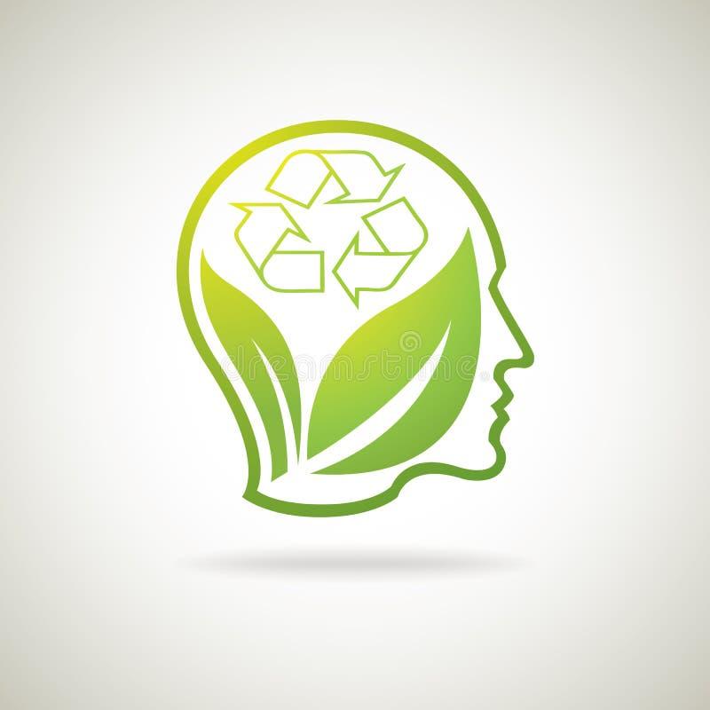 Eco recicla a ideia ilustração royalty free