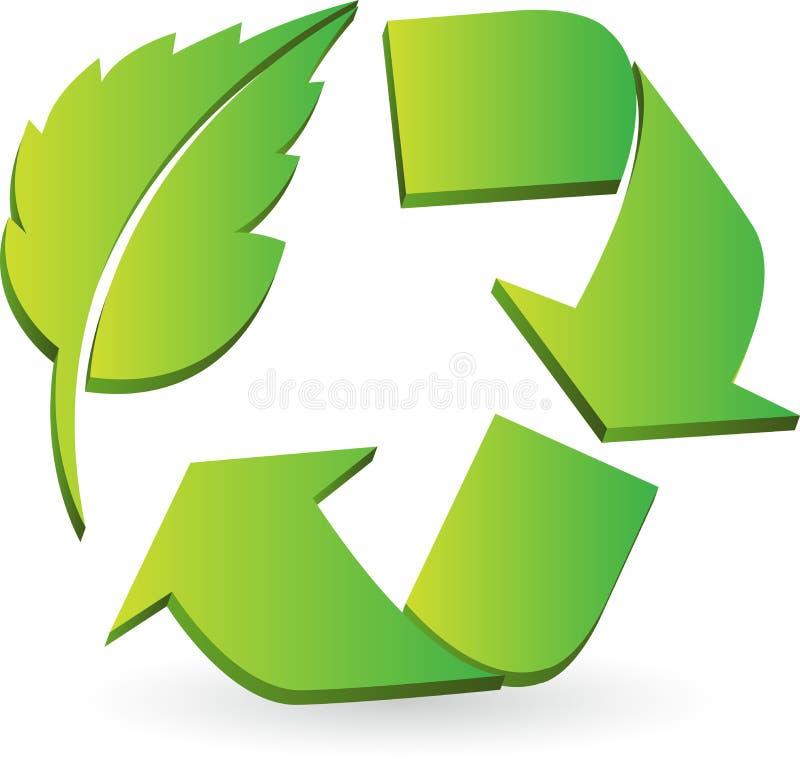 Eco recicla o logotipo ilustração stock