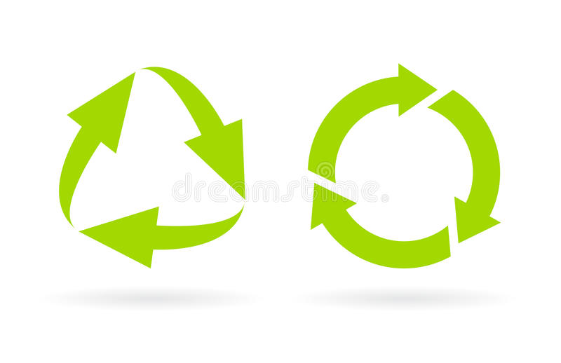 Eco recycled cycle vector icon royalty free illustration