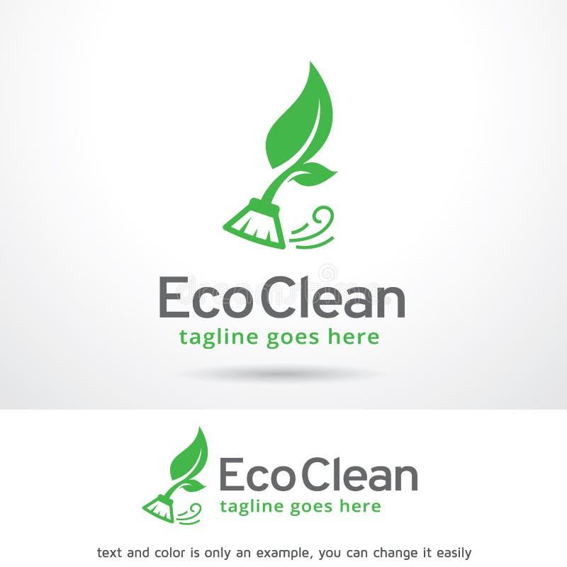 Eco rengöring Logo Template Design Vector stock illustrationer
