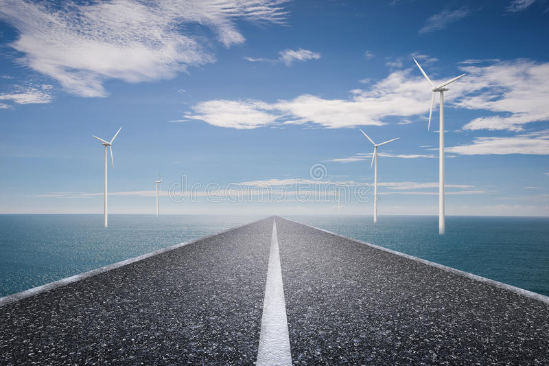 Eco road concept royalty free stock photography