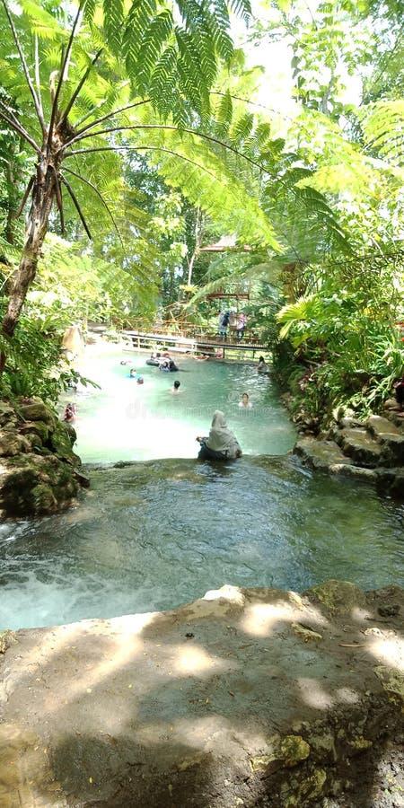 Eco rzeki parka turystyki błotnisty chłodno zdjęcia stock