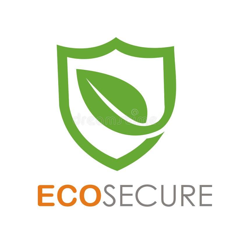 Eco säker logodesign vektor illustrationer