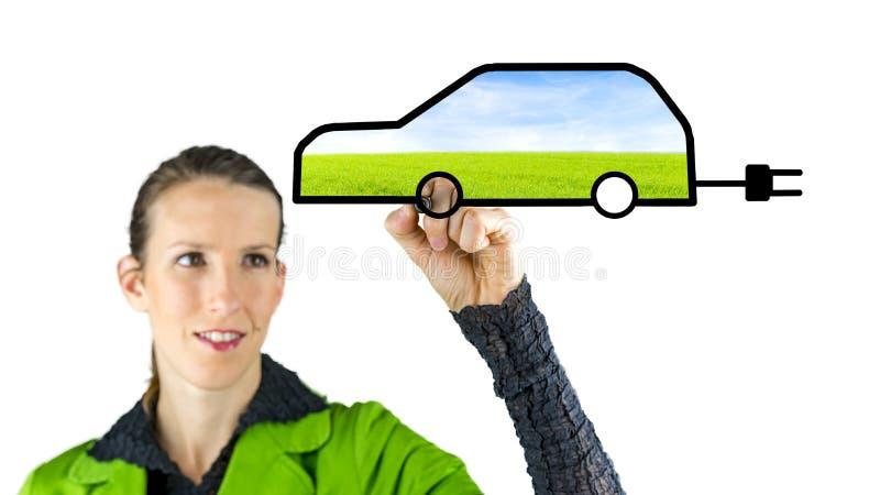 Eco samochód obrazy stock