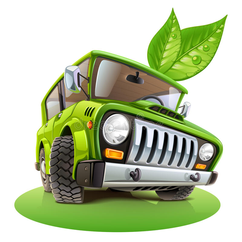 Eco samochód ilustracja wektor