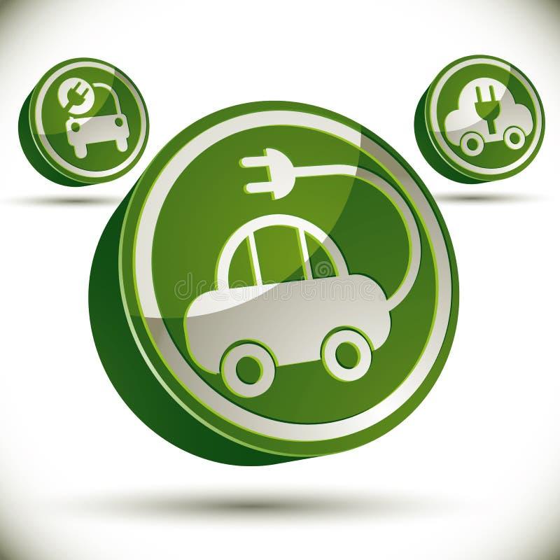 Eco samochodu ikona ilustracja wektor