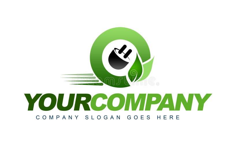 Eco Samochodu Logo ilustracji