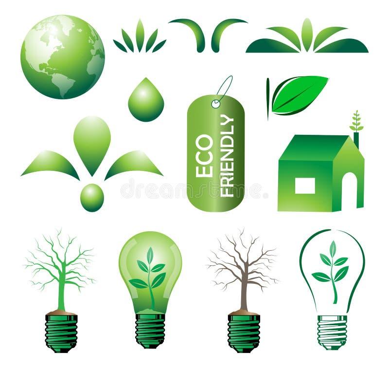 Eco set vector illustration