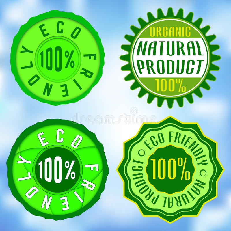 Eco. Set of Ecological Stamps, Insignias, Logotypes. Vector design vector illustration