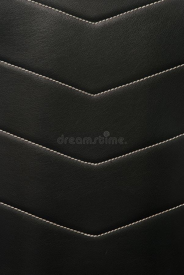 Eco skóra z lampasami zaszytymi przez krzyż dla samochodowego wnętrza zdjęcie stock