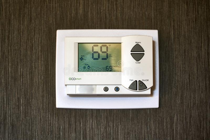 Eco Smart Hotel термостат от Telkonet стоковая фотография rf