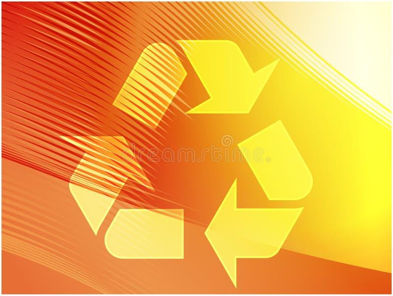 eco som återanvänder symbol royaltyfri illustrationer