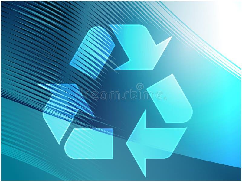 eco som återanvänder symbol stock illustrationer