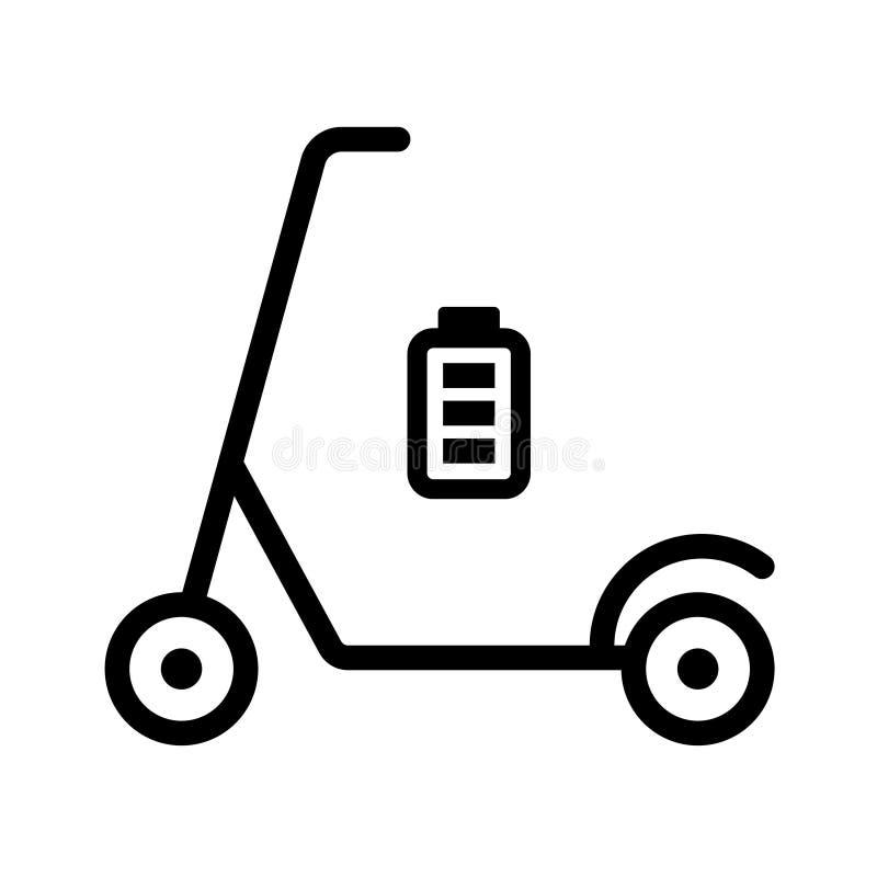 Eco sparkcykelbild Full batterisymbol stock illustrationer
