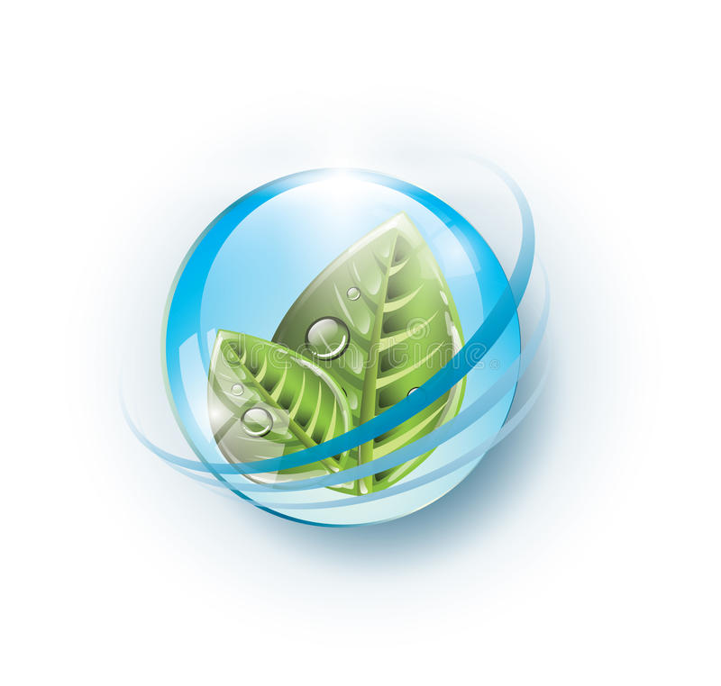Free Eco Sphere With Leaves Stock Image - 30334681