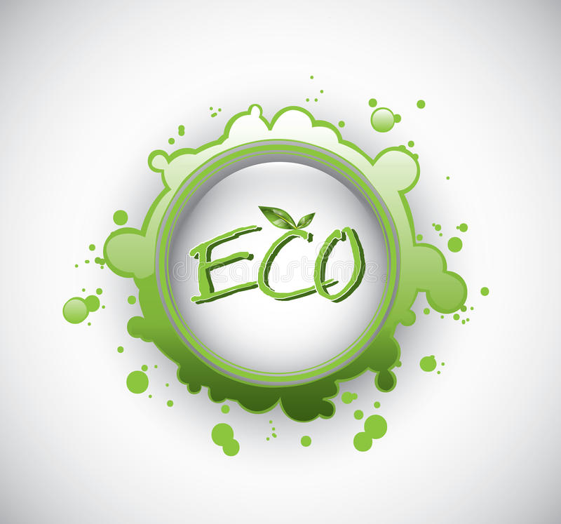Download Eco splash stamp stock vector. Image of leaf, plant, friendly - 31413635
