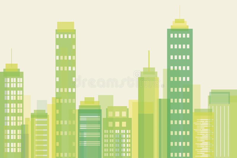 Eco stad vektor illustrationer