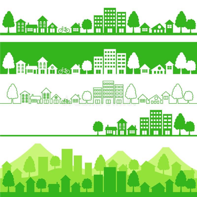 Eco Stadt stock abbildung
