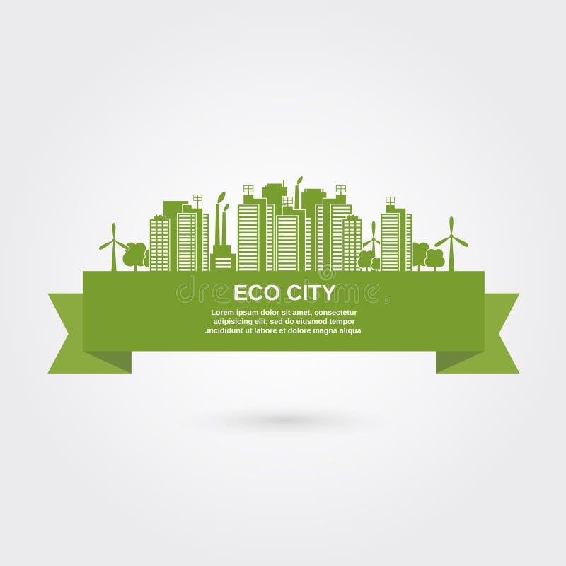 Eco-Stadtkonzept lizenzfreie abbildung
