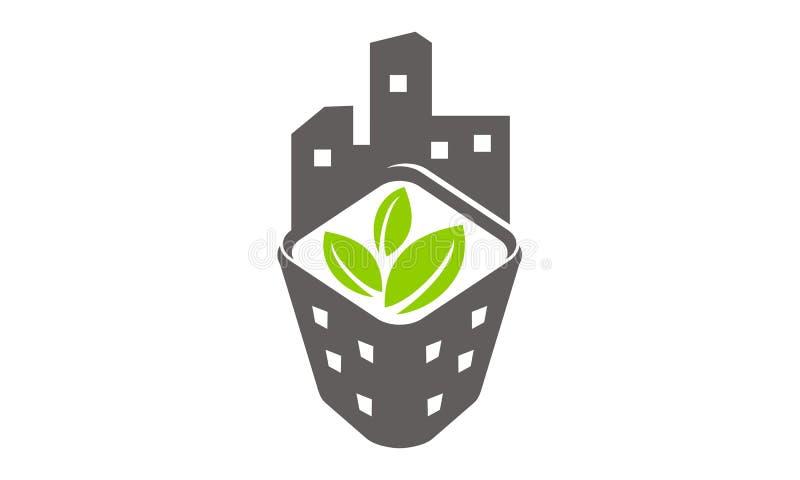 Eco Stedelijke Ontwikkeling van het de Bouwlandbouwbedrijf stock illustratie