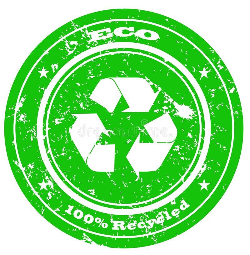 Eco Stempel stock abbildung