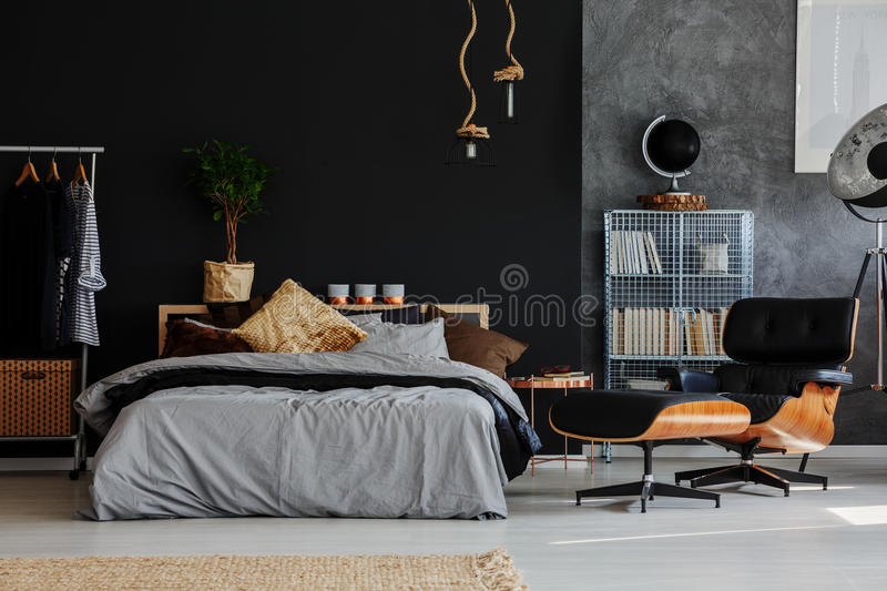 Eco style bedroom royalty free stock images