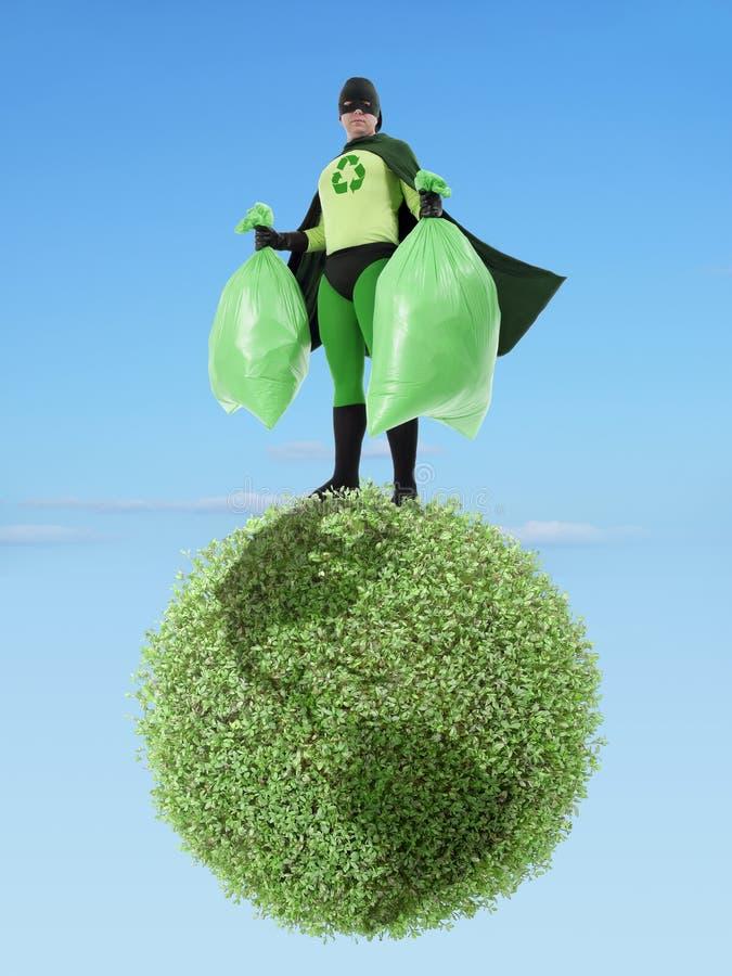 Eco Superhero And Garbage Free Planet Royalty Free Stock Image Image 29974266