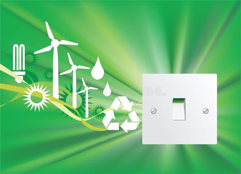 Eco switch royalty free stock photos