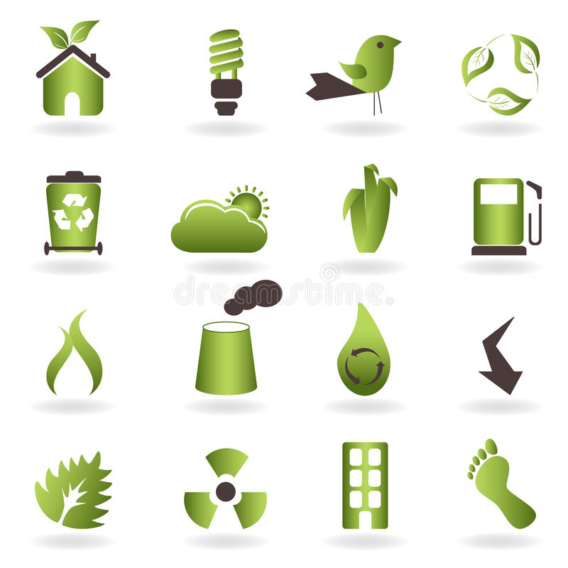 Download Eco symbols and icons stock vector. Illustration of illustration - 16430815