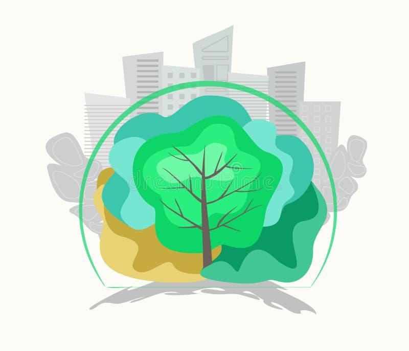 Eco systembegrepp royaltyfri illustrationer
