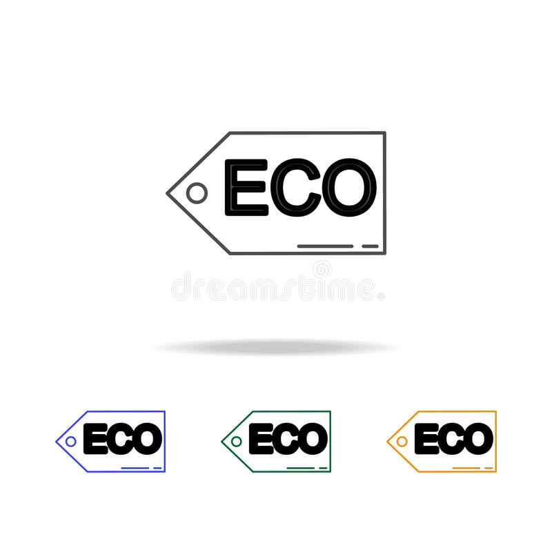 Eco tag icons. Element of ecology for mobile concept and web apps. Thin line icon for website design and development, app develop. Ment. Premium multicolor icons vector illustration