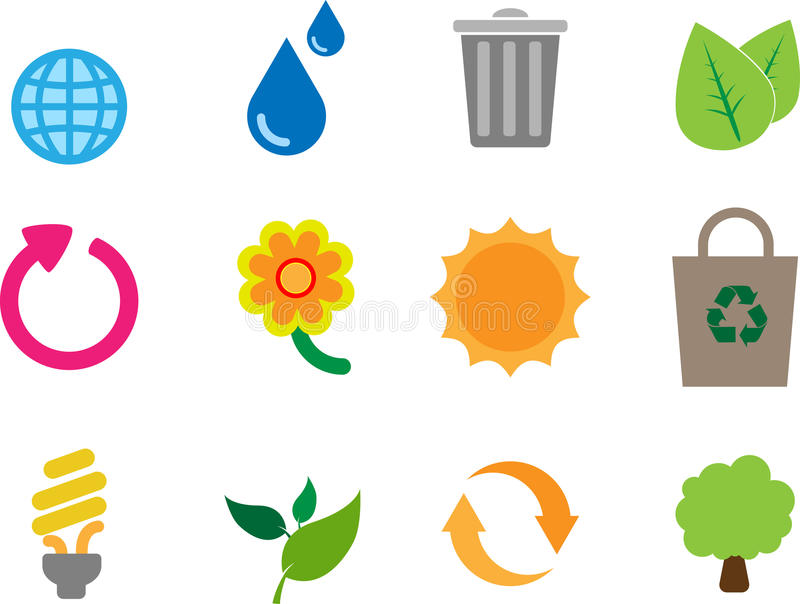 Download Eco theme icon pack stock vector. Illustration of element - 20231081
