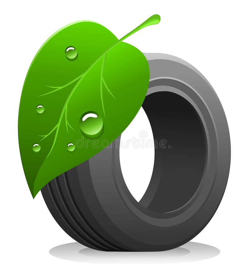 Eco tire vector illustration