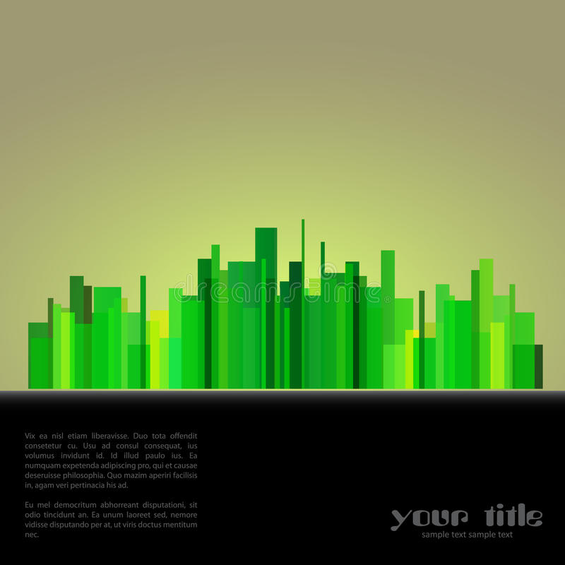 Download Eco town background stock vector. Image of icon, city - 25745303