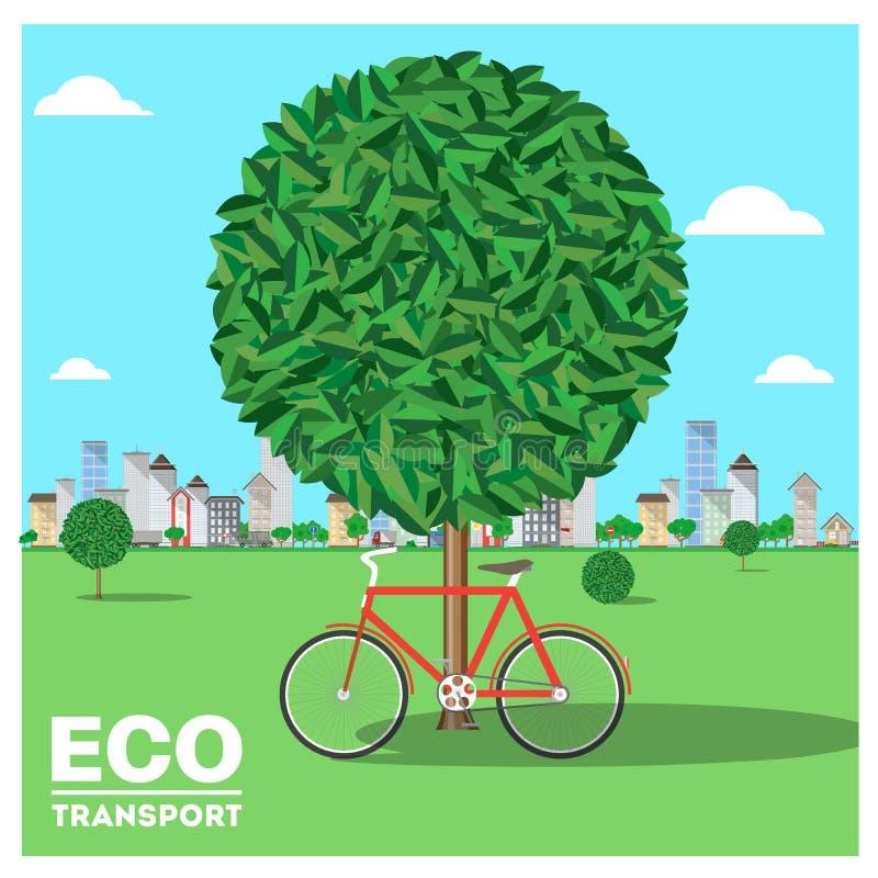 Eco-Transport Bunte Abbildungen lizenzfreie abbildung