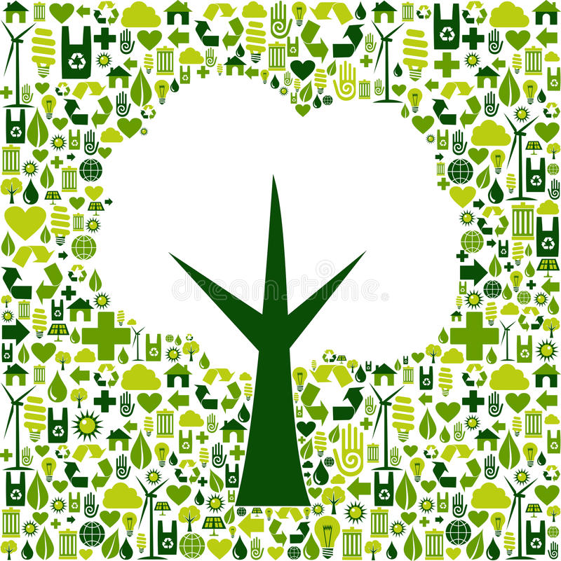Download Eco Tree Symbol With Green Icons Stock Vector - Illustration of illustration, environment: 24360190