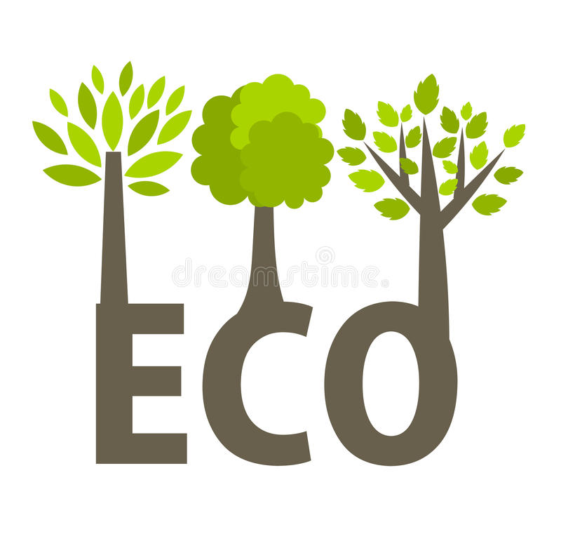 Download Eco trees stock illustration. Image of plant, isolated - 26460344