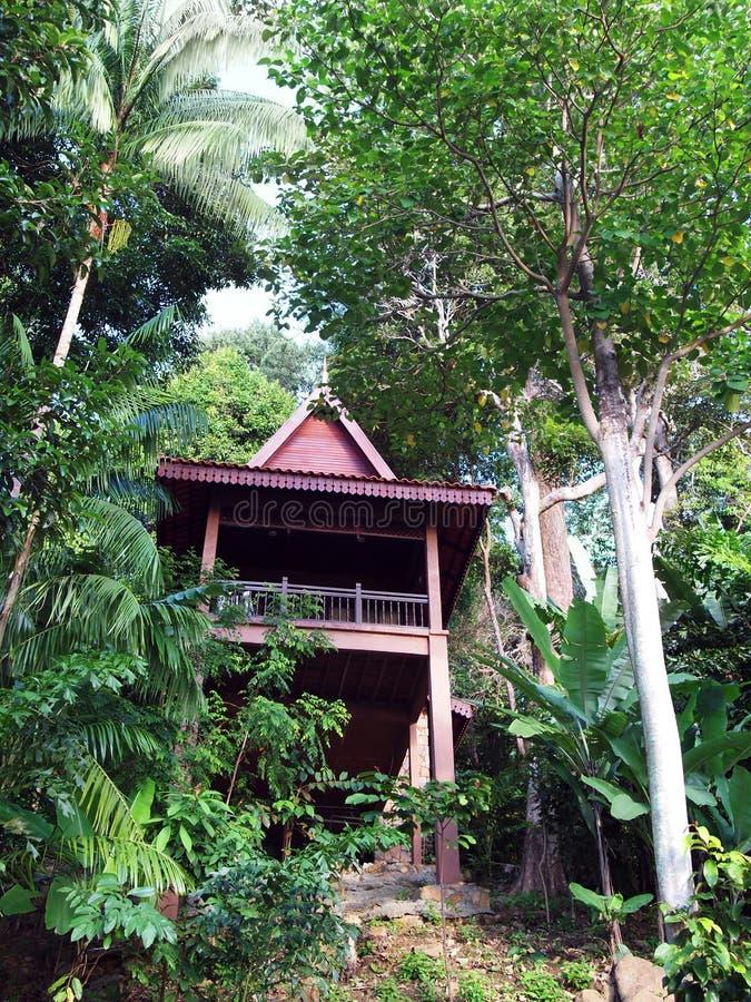 Eco turystyka - etnicznego projekta drzewny dom, Malezja zdjęcia royalty free