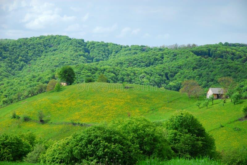 Eco utrzymanie w domu na wzgórzach fotografia royalty free