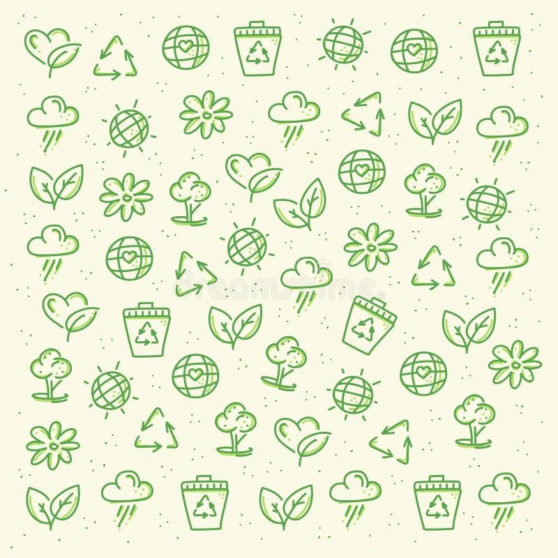 Eco vänlig modell vektor illustrationer