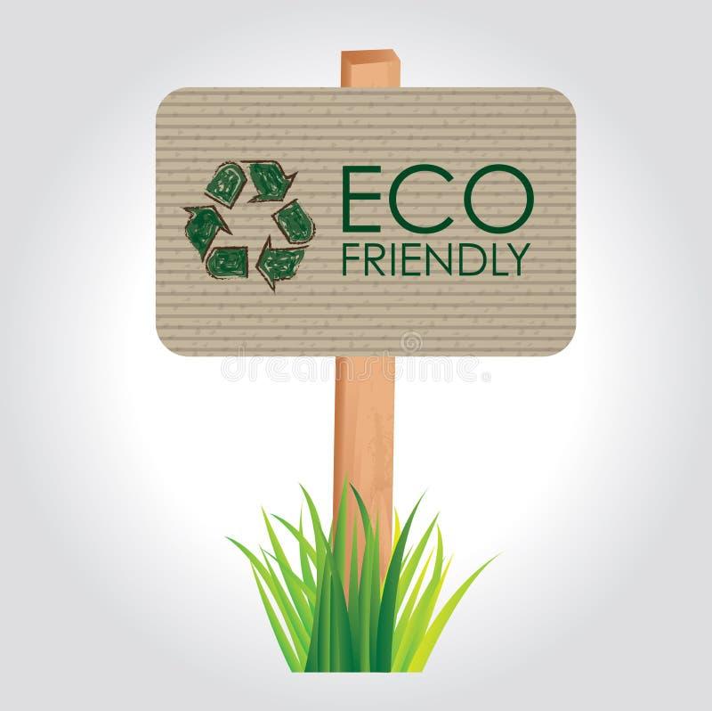 Eco vänskapsmatch stock illustrationer