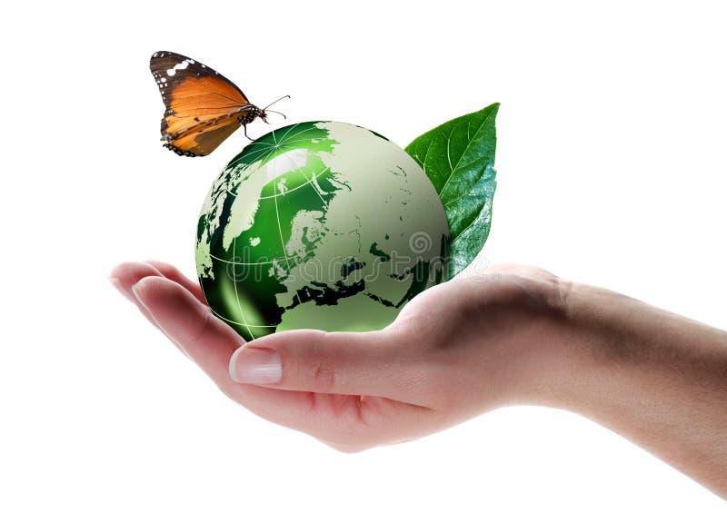 Eco-vänskapsmatch begrepp royaltyfri foto