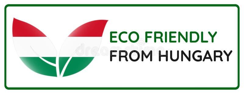 Eco vänskapsmatch från Ungernemblem royaltyfri illustrationer