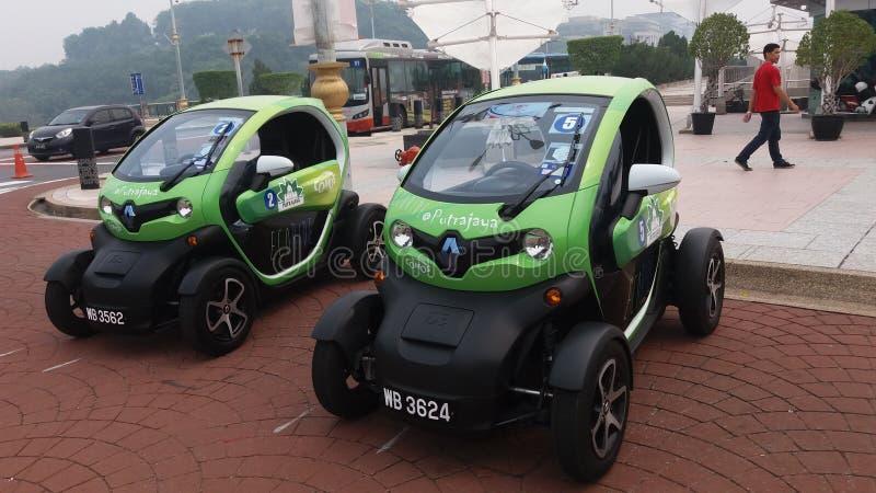 Eco vehicle electric mini car stock photos